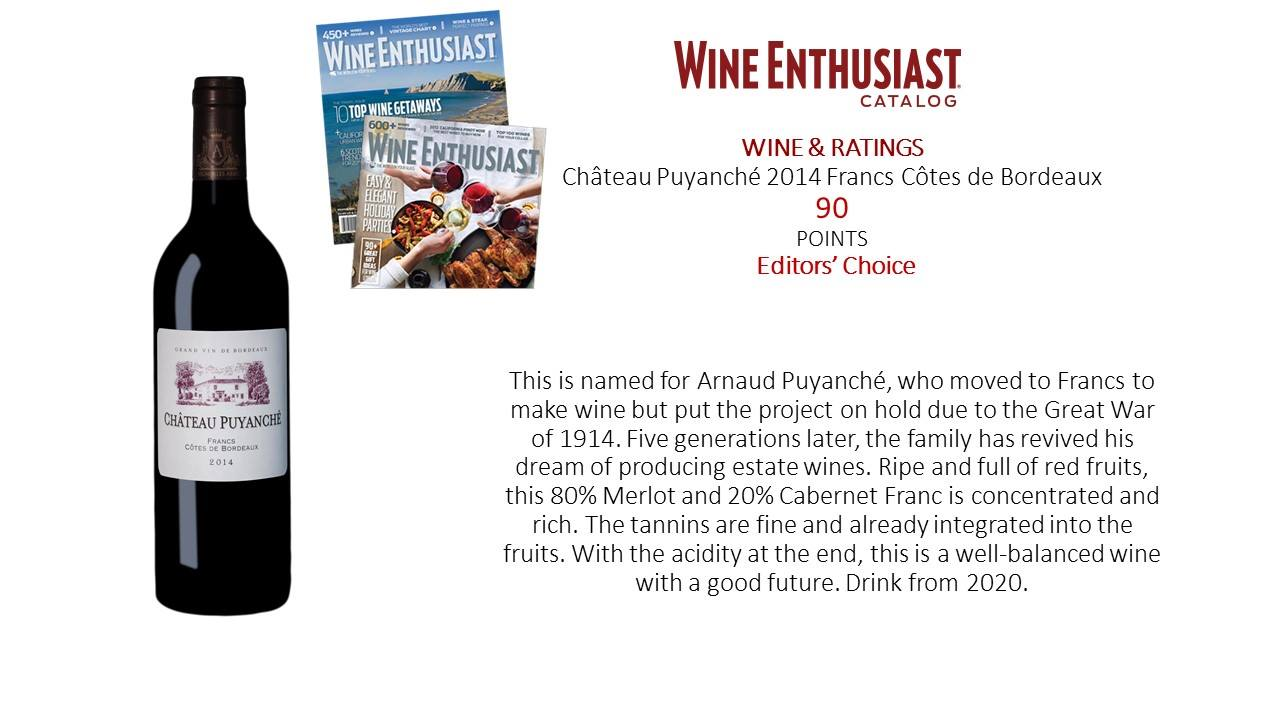 Wine Enthusisat Puyanche 2014
